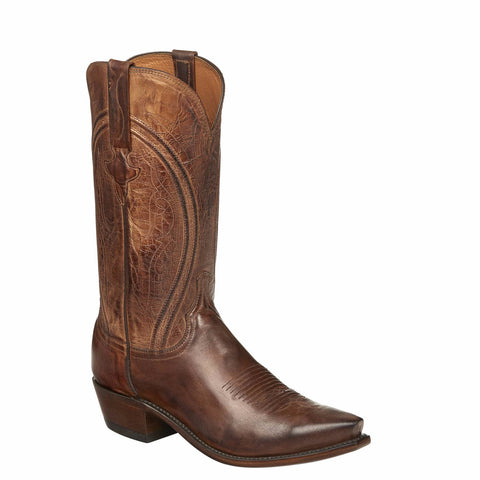 Lucchese Men's Since 1883 Clint Peanut Brittle Heirloom Boots N1657.54 - Wild West Boot Store
