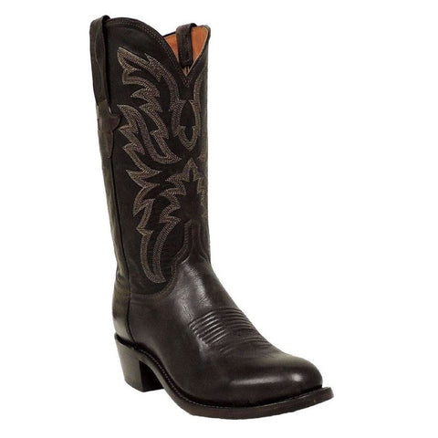 Lucchese Men's Dark Brown Goat Boots N1663.R4 - Wild West Boot Store