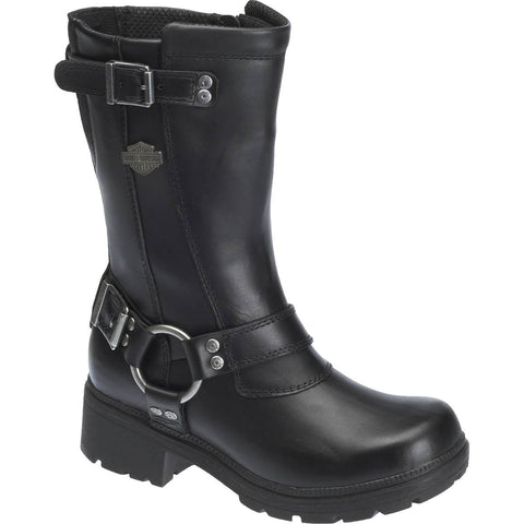 Harley Davidson Ladies Derringer Black Motorcycle Boots D83790 - Wild West Boot Store