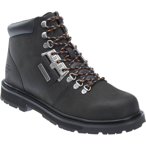 Harley-Davidson Men's Black Templin Lace-Up Motorcycle Boot D93434 - Wild West Boot Store