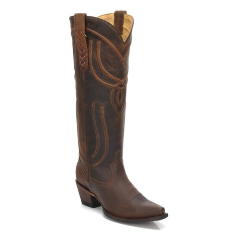 Corral Ladies Brown Woven Tall Western Boots R1418 - Wild West Boot Store