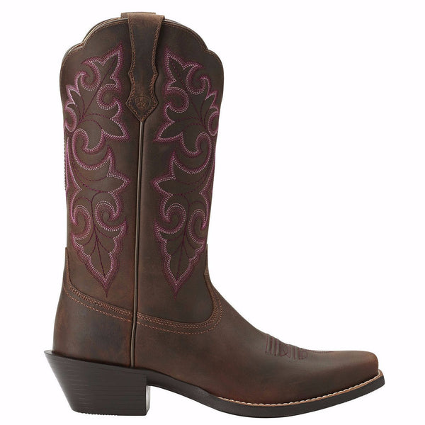 Ariat Ladies Round Up Square Toe Boots 10014172 - Wild West Boot Store