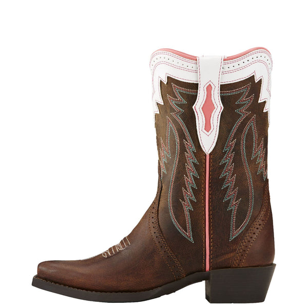 Ariat Children's Calamity Rodeo Tan Brown Boot 10018642 - Wild West Boot Store