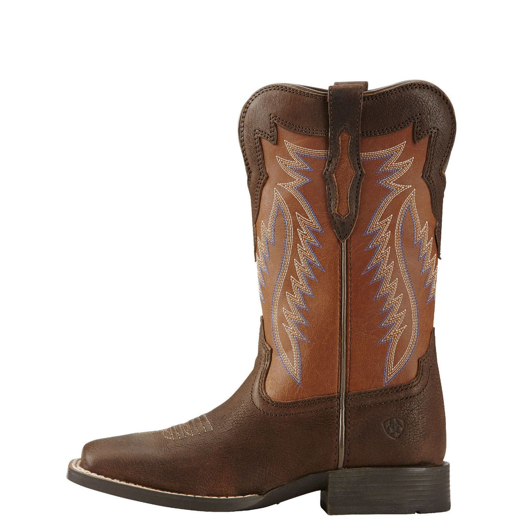 Ariat Kid/'s Calamity Rodeo Tan Pink White Cowgirl Boots 10018642