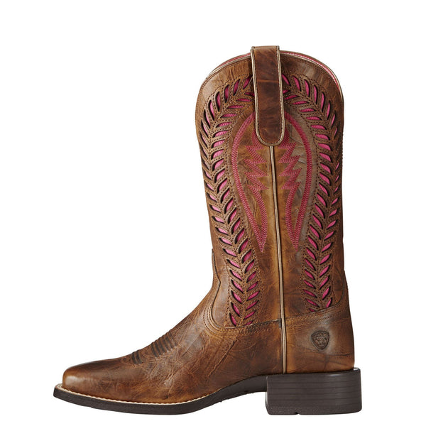 Ariat® Ladies Quickdraw VentTEK Barn Brown Western Boot 10019904 - Wild West Boot Store