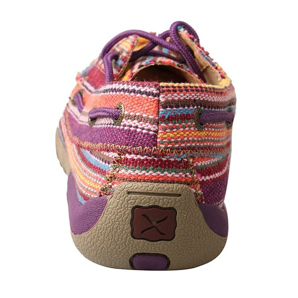 Twisted X Ladies Purple Multicolor Canvas Driving Mocs WDM0047 - Wild West Boot Store