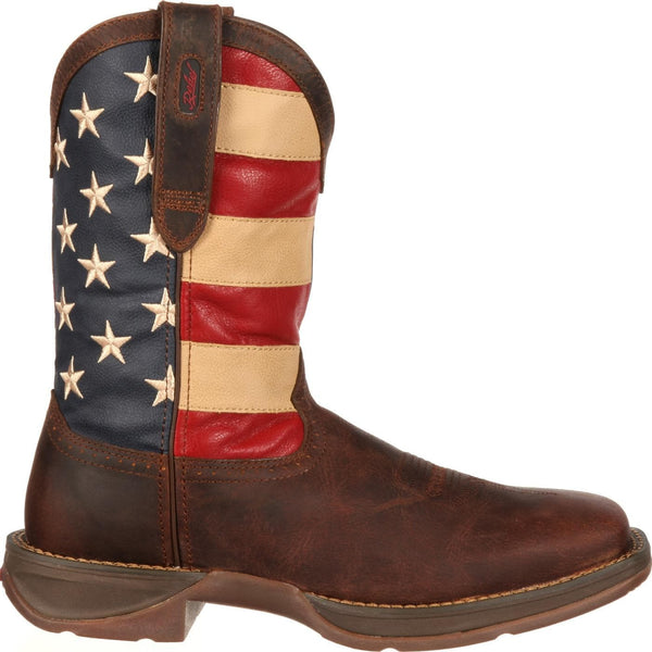 Durango Men's Rebel Patriotic Pull-On Flag Boots DB5554 - Wild West Boot Store - 2