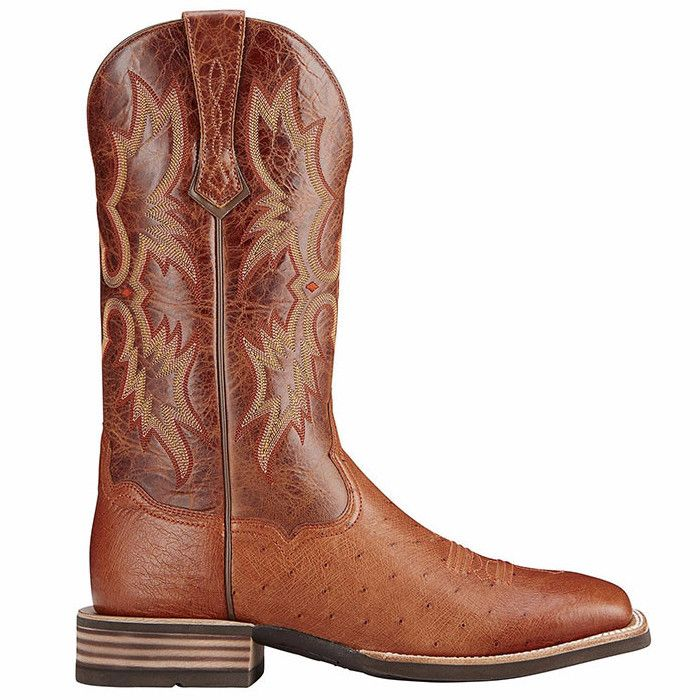 f920d713ed0 Ariat Men's Brandy Tombstone Smooth Quill Ostrich Boot 10016277