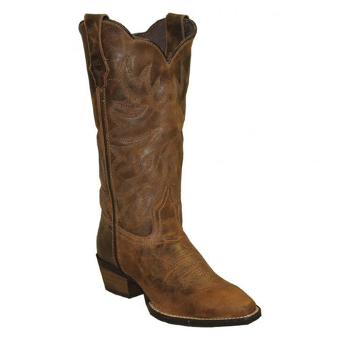 Rawhide by Abilene Ladies Brown Embroidered Scalloped Top Boot 5151