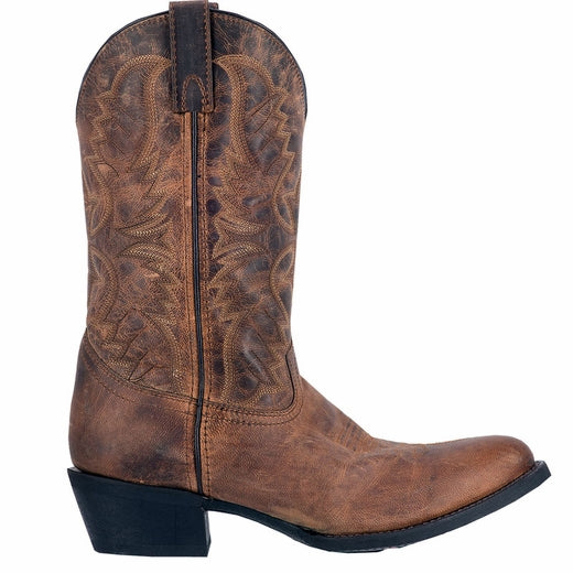 Laredo Men's Birchwood Tan Distressed Round Toe Boots 68452 - Wild West Boot Store