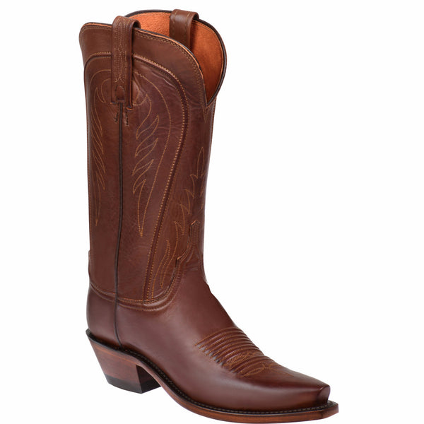 Lucchese Ladies 1883 Amberle Boots Tan Burnished Ranch Hand N4604.54 - Wild West Boot Store - 1