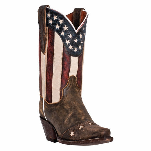 Dan Post Ladies Liberty Flag Western Boot DP3586 - Wild West Boot Store - 1