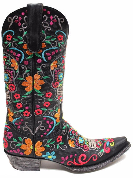 Old Gringo Womens Klak Skull Cowgirl Boot L1300-1 - Wild West Boot Store - 2