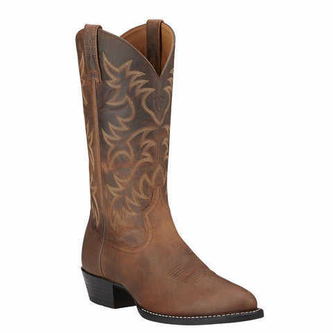 Ariat Men's Heritage Western R Toe Distressed Brown Boots 10002204 - Wild West Boot Store