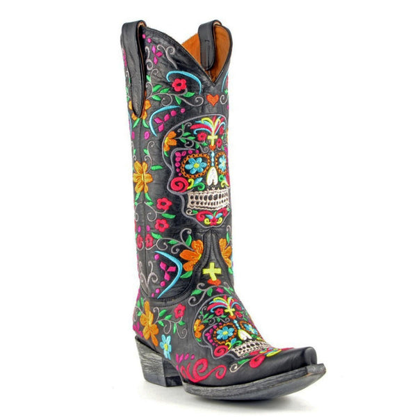 Old Gringo Womens Klak Skull Cowgirl Boot L1300-1 - Wild West Boot Store - 1