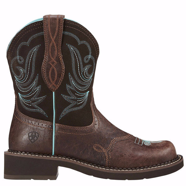 Ariat Ladies Fatbaby Heritage Dapper Royal Choc Short Boots 10016238 - Wild West Boot Store