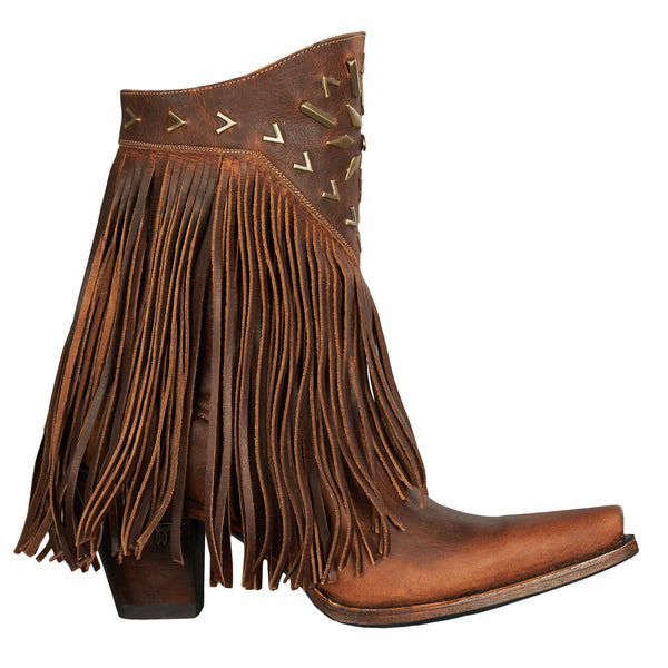 Lane Ladies Fringe It Brick Toned Shortie Cowgirl Boots LB0261A - Wild West Boot Store - 3