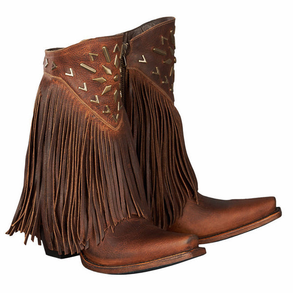 Lane Ladies Fringe It Brick Toned Shortie Cowgirl Boots LB0261A - Wild West Boot Store - 6