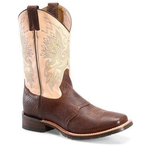 Double H Men's Brown/Cream Square Toe Boots DH3613