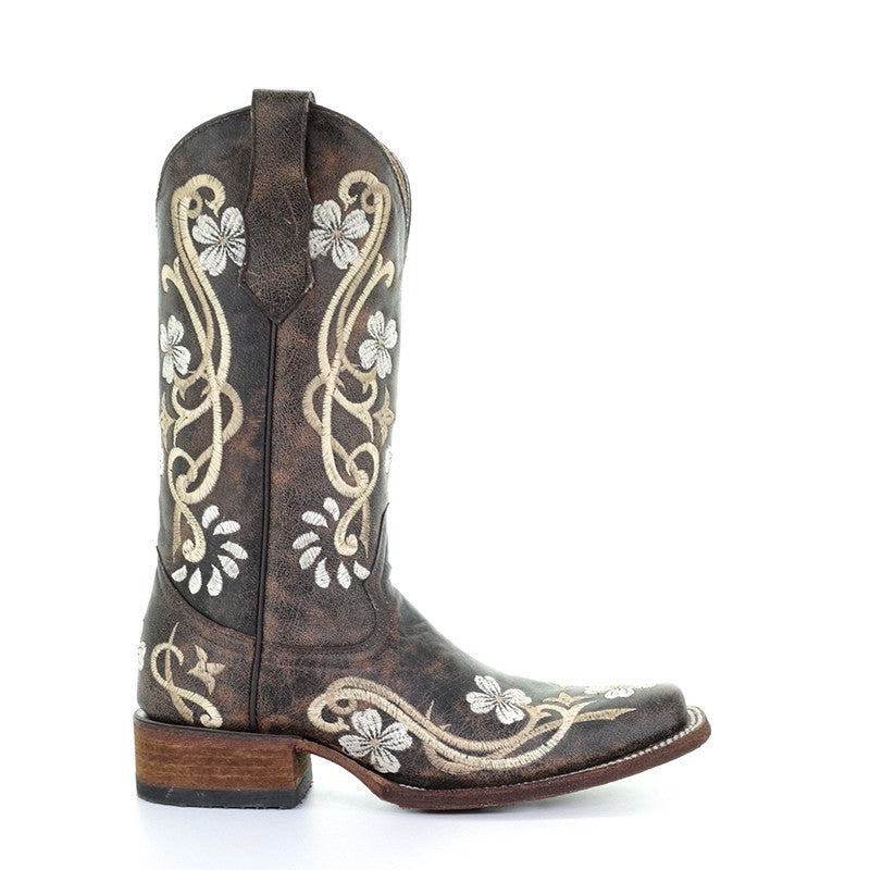 65e97636ea2 Circle G By Corral Ladies Shedron/Beige Floral Embroidered Boot L5270 -  Wild West Boot
