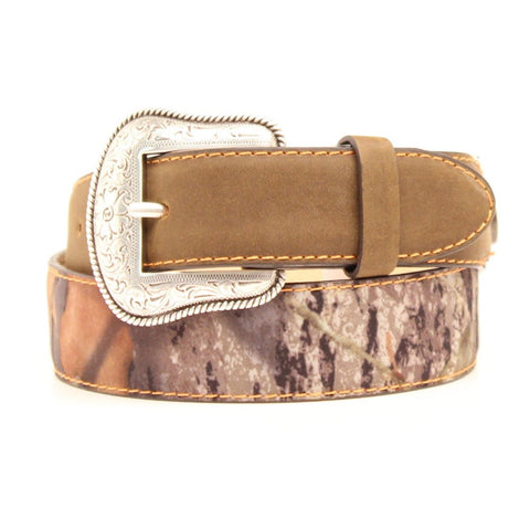 Nocona Children's Shell Concho Camo & Brown Leather Belt N44174222