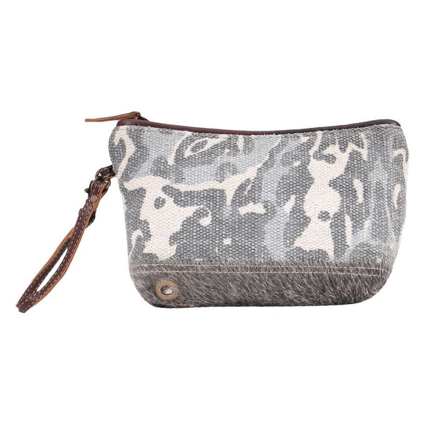 Myra Bag Regiment Canvas & Hair-On Pouch Bag S-1605
