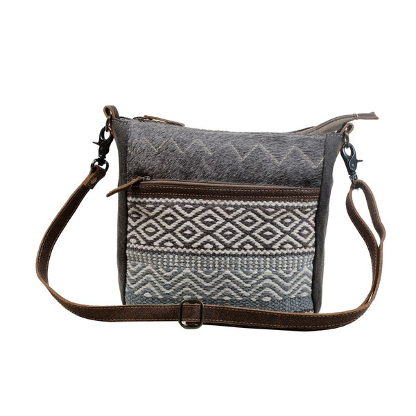 Myra Bag Chevron Patterned Cotton Rug Crossbody Purse S-3069