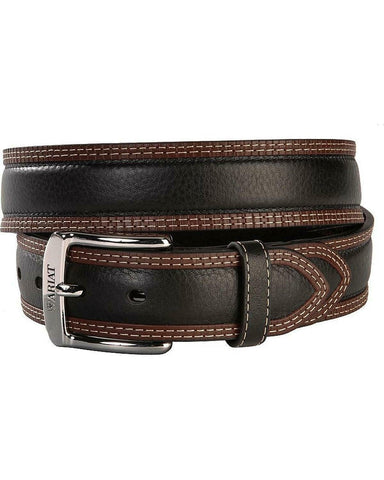 Ariat Men's Diesel Two Tone Black & Brown Leather Belt A10005802