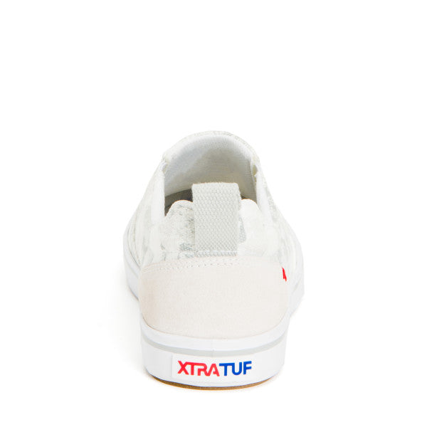 XTRATUF Ladies Sharkbyte Canvas White Camo Deck Shoes XSW-102