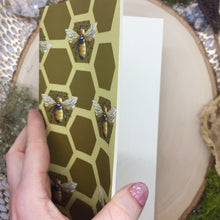 Load image into Gallery viewer, Honey Bee Mini Sketchbook/ Travelers Sketchbook