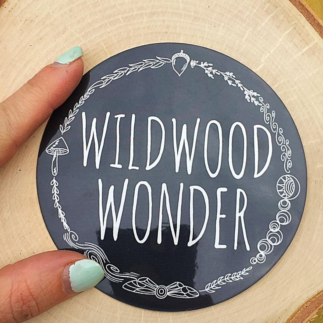 Wildwood Wonder Logo Window Sticker