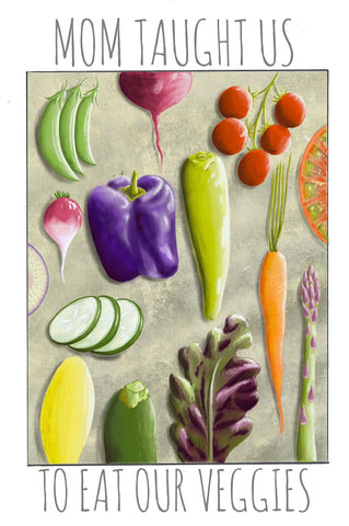 Eat Your Veggies Digital Card