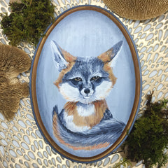 Gray Fox Original Painting
