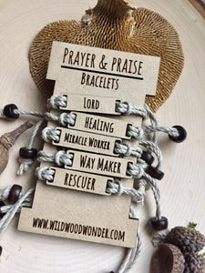 Lord/Healing: Prayer & Praise Bracelets:
