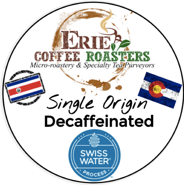 K-Cup®-Style Single-Serve Pods: DECAF Costa Rica Medium Roast 100% Recyclable Cups