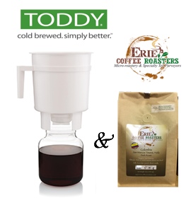 Toddy Cold Brew System + 12oz Bag Erie Coffee Roasters Coffee!