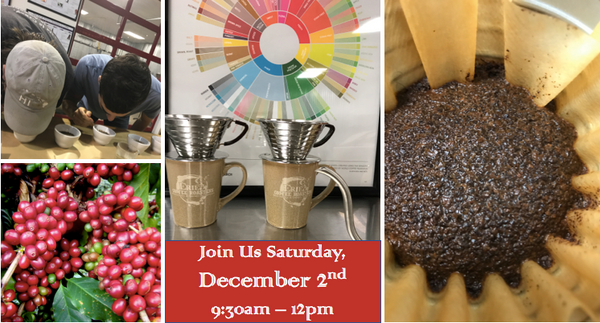 Coffee Tasting December 2nd, 2017 9:30am-12:00pm