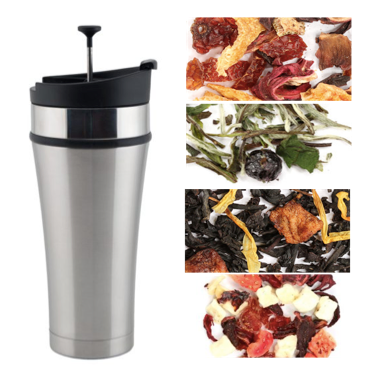Infuser Mug - Tea Tumbler 16oz + Tea Sampler Pack
