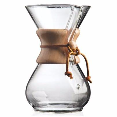 CHEMEX® 6-Cup Classic Series Glass Coffee Maker + 10 filters