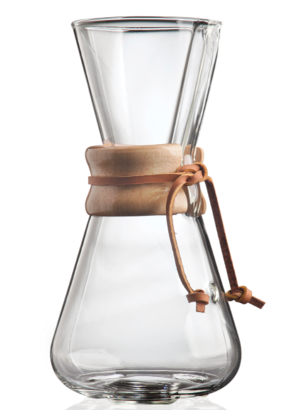 CHEMEX® 3-Cup Classic Series Glass Coffee Maker