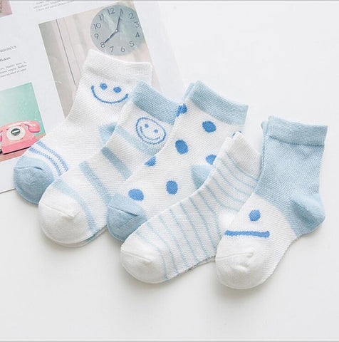 5 Pack of Colorful Socks! (Ages 0-8 )