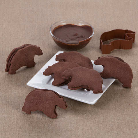 Fudge-Filled Chocolate Bears