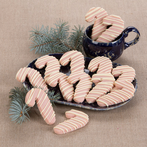 Peppermint Shortbread Candy Canes