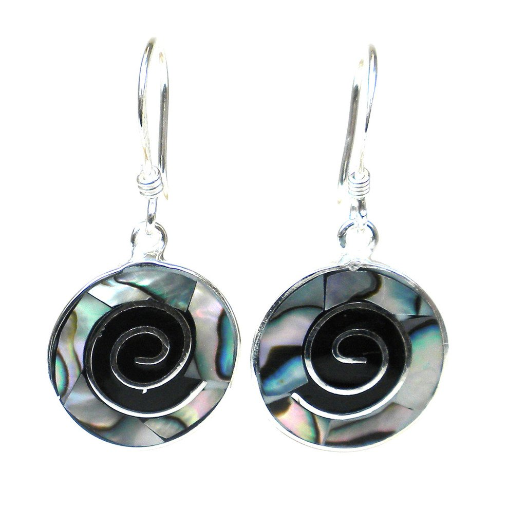 Abalone Shell Spiral Earrings - Artisana