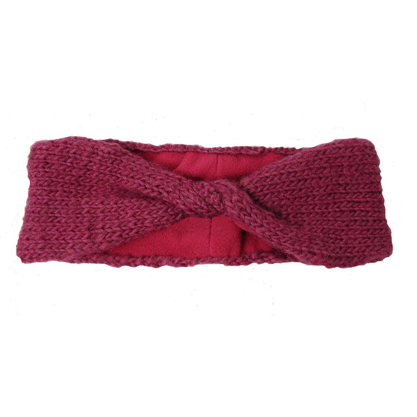 Lined Twist Headband - Berry - WorldFinds (W)