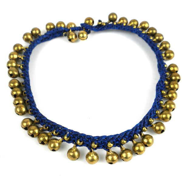 Rasa Bells Anklet - Navy - Global Groove (J)