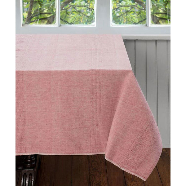 Pale Coral Cotton Tablecloth 90 by 60 - Sustainable Threads (L)