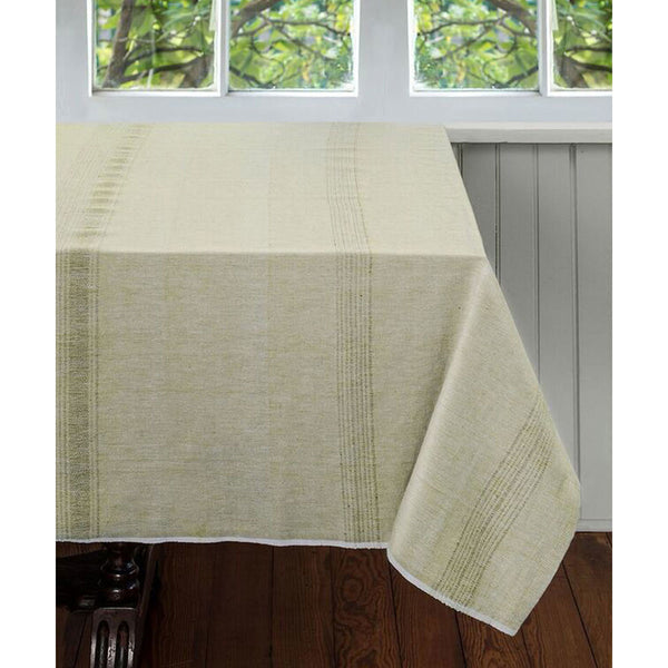 Pale Leaf Cotton Tablecloth 90 by 60 - Sustainable Threads (L)