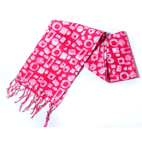 Batiked Scarf - Pink - World Peaces (S)