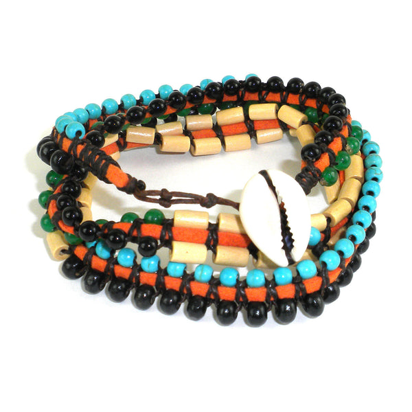 Mens Vegan Wrap Bracelet - World Cup - Global Groove (J)